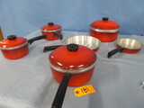 6 PC. CLUB COOKWARE-NEW