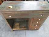 ANTIQUE SHABBY DESK W/ DRAWERS