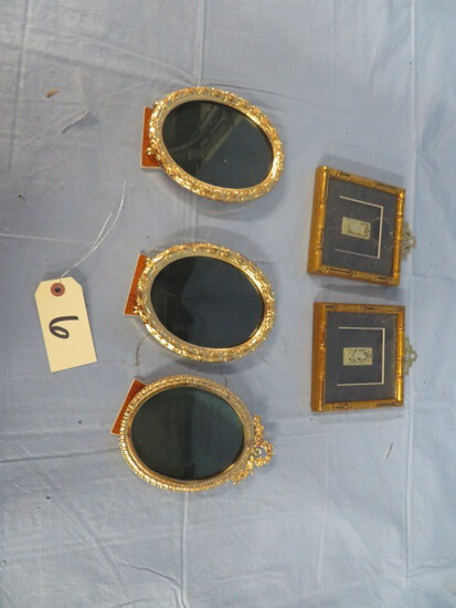 5 PCS. GOLD FRAMES