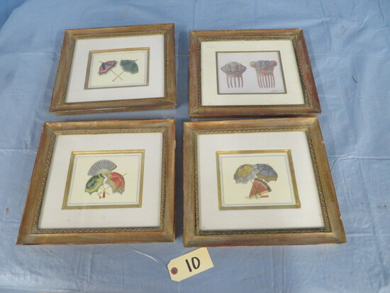 ALDAMA SIGNED PRINTS IN FRAMES  14 X 13