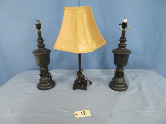 """3 LAMPS APPROX. 21""""T"""