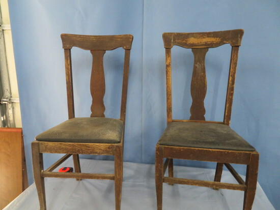 2 T BACK CHAIRS