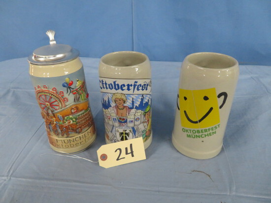 3 GERMAN STEINS