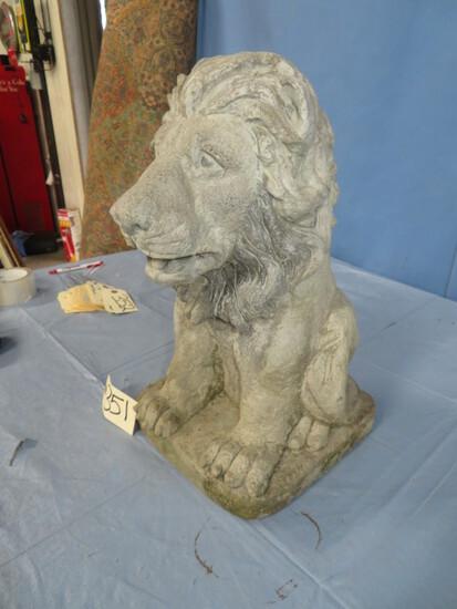 """CONCRETE LION  17"""" T"""