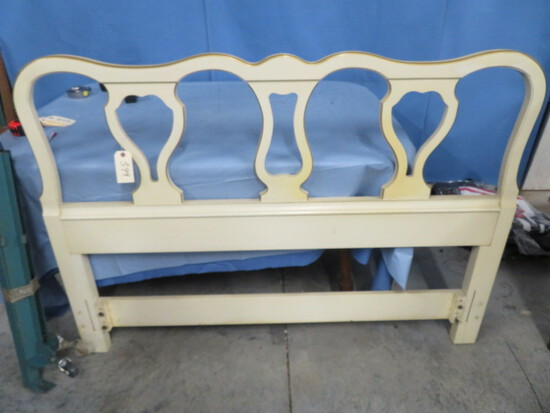 DREXEL FRENCH PROVINCIAL FULL/QUEEN BED W/ METAL FRAMES
