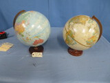 2 WORLD TABLE TOP GLOBES