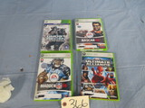 4-  X BOX 360 GAMES - SEE PHOTO FOR NAMES