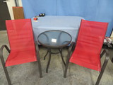 PATIO TABLE & 2 CHAIRS