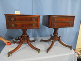 PAIR OF BEAUTIFUL BRANDT FURNITURE END TABLES  20 X 22