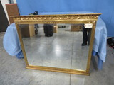 BEAUTIFUL GOLD FRAME MIRROR- SMALL PC MISSING IN RIGHT CORNER- SEE PHOTO  45 X 36