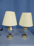 PAIR OF BRASS LAMPS  27