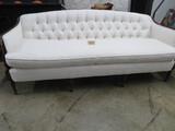BEAUTIFUL WHITE TUFTED SOFA  77