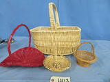 MISC. BASKETS  ONE IS PINE NEEDLE BASKET