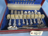 SET OF SILVER PLATED FLATWARE  57 PCS.