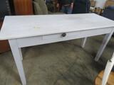 WHITE FARMHOUSE TABLE W/ 2 DRAWER