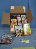 BOX OF MISC. DVDS & VHS