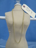 14 KT. GOLD ROPE NECKLACE 17