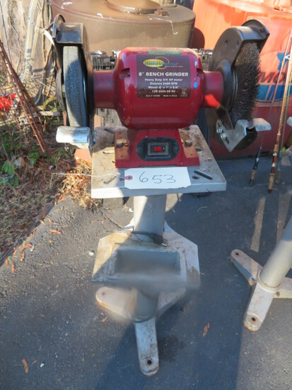 "8"" BENCH GRINDER ON STAND"