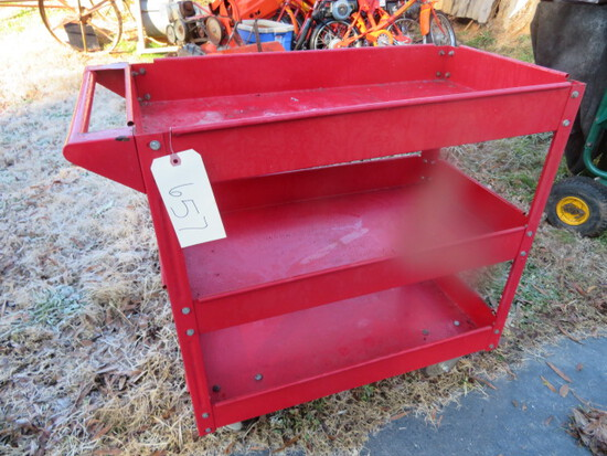 RED ROLL AROUND TOOL CART