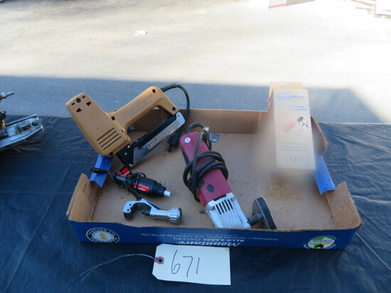 ELECTRIC STAPLER, CHAINSAW SHARPENER, DETAIL SANDER, ROTARY TOOL , TUBING CUTTER