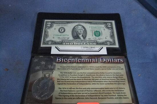 BICENTENNIAL DOLLARS  1976 IKE  1976 $ 2 BILL