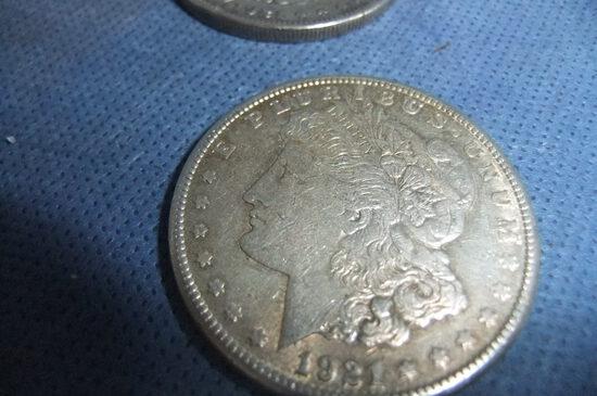 5- 1921 SILVER DOLLARS