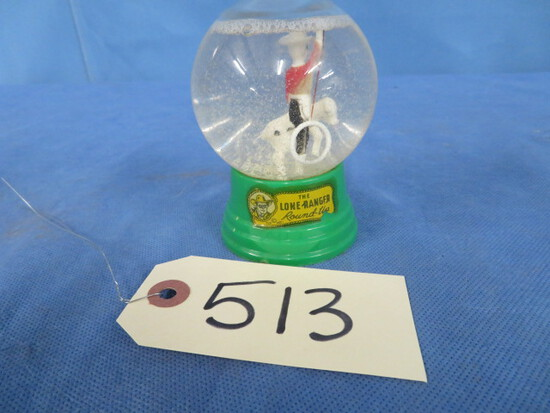 """LONE RANGER SNOW GLOBE """" ROUNDUP"""" BY TLR INC"""