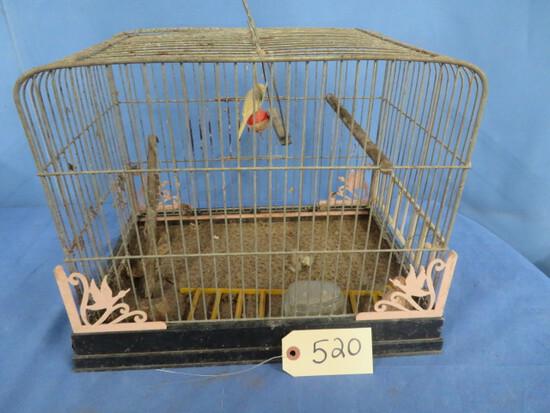 VINTAGE BIRD CAGE  12 X 15