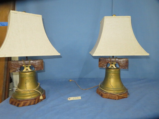 2 LIBERTY BELL LAMPS