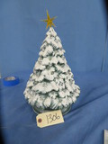 LIGHTED CERAMIC CHRISTMAS TREE  14