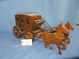 WOODEN HORSE & BUGGY ELECTRIC LAMP
