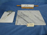 MARBLE ROLLING PIN, & MARBLE CUTTING BOARDS