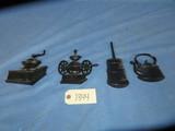 4 METAL WALL PCS. MARKED USA