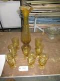 YELLOW VASE & GLASSES