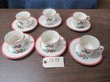 12 PC. CHRISTMAS CUPS & SAUCERS