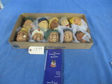 10 BOSSON CHALK WALL MASKS FROM CONGLETON ENGLAND