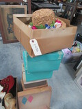 LARGE AMOUNT OF VINTAGE  HATS & BOXES- SOME FROM BELK'S