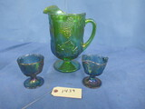 CARNIVAL PITCHER & 2 CUPS