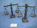 2 WOODEN SCALES