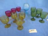 13 PCS. COLORED GLASSES
