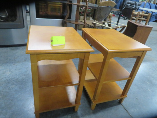 PAIR OF MODERN END TABLES  24 X 19