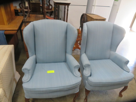 2 WING BACK CHAIRS - CLEAN