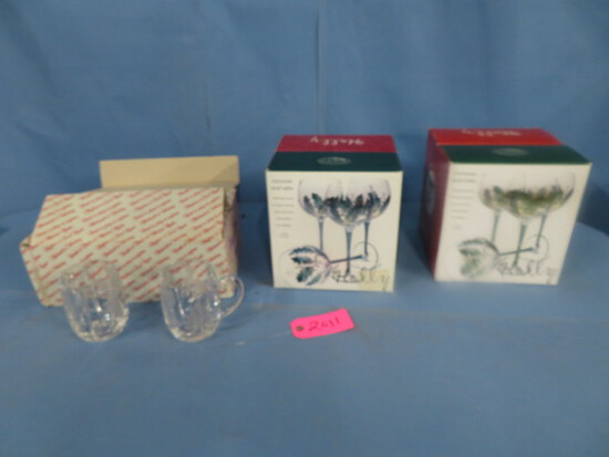 HOLIDAY GLASSES IN BOXES