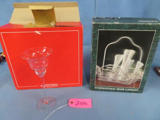 INTERNATIONAL SILVER WINE GLASSES