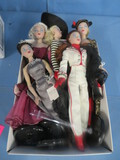 LARGE COLLECTION OF GENE MARSHALL DOLLS 1995