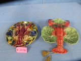 MAJOLICA LOOK LOBSTER DISHES  13