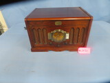 MUSEUM THOMAS SERIES REPRODUCTION RADIO/TURNTABLE  18 X 14 X 11