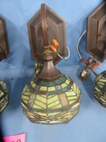 4 STAINED GLASS WALL LIGHTS  13