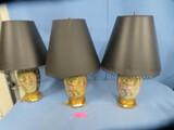 3 MATCHING ORIENTAL LAMPS  29