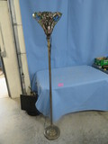 STAINED GLASS FLOOR LAMP  6 FT. TALL